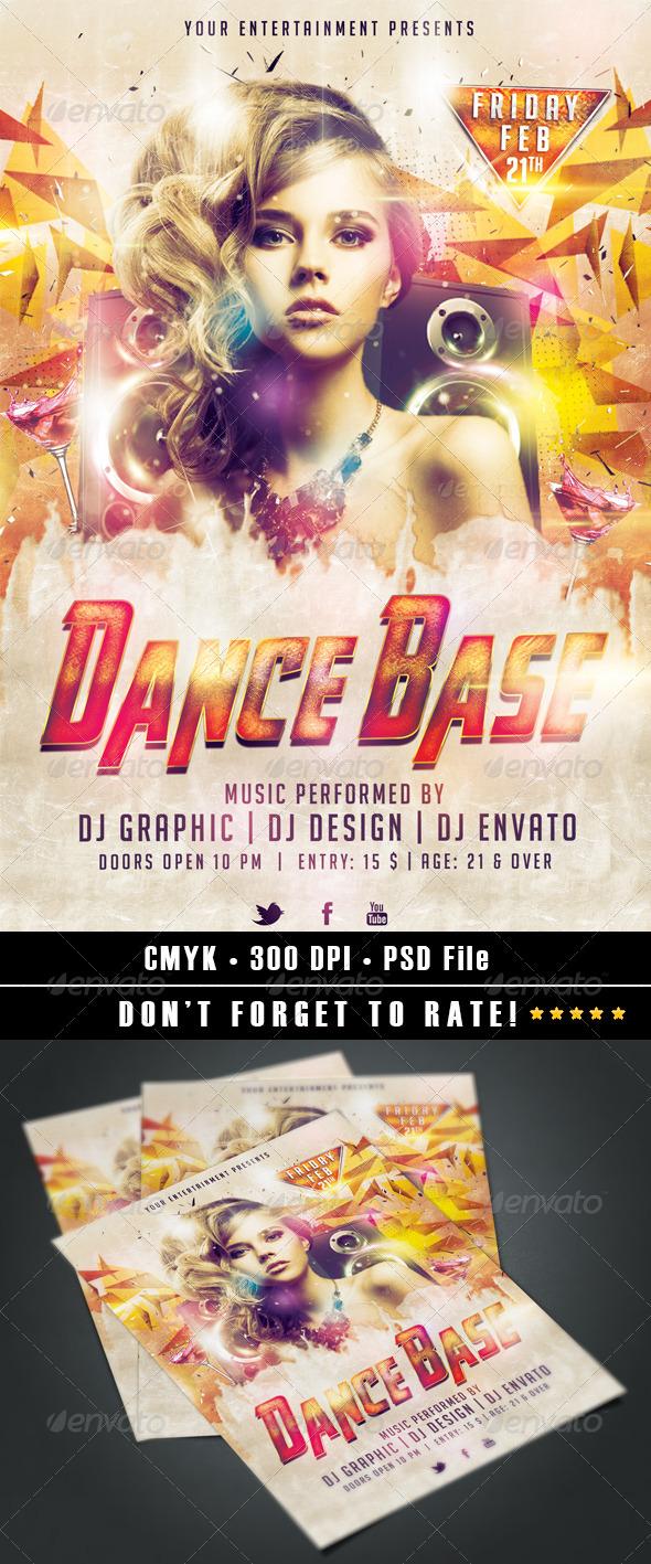 GraphicRiver Dance Base Flyer 6819689