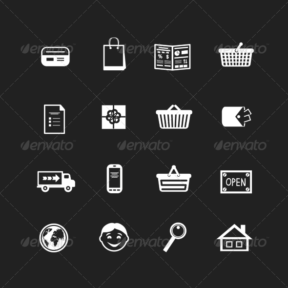 Collection of E-Commerce Interface Pictograms