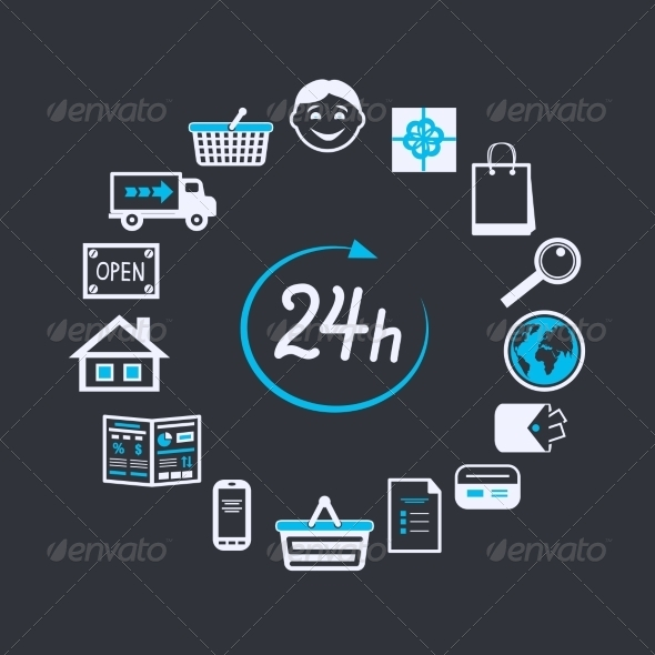 GraphicRiver Internet Website Store Open 24 Hours 6819708