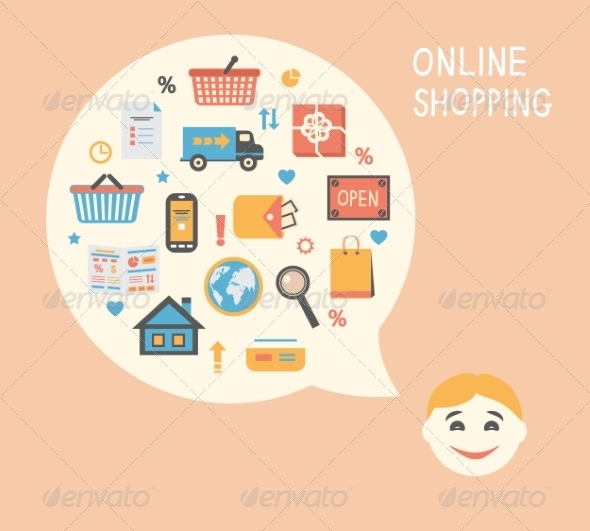 GraphicRiver Online Shopping Innovation Idea 6819709