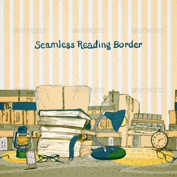 GraphicRiver Seamless Book Border 6819762