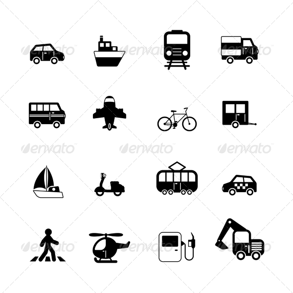 GraphicRiver Transportation Pictograms Collection 6820014