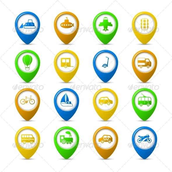 GraphicRiver Navigation Pins Set 6820017