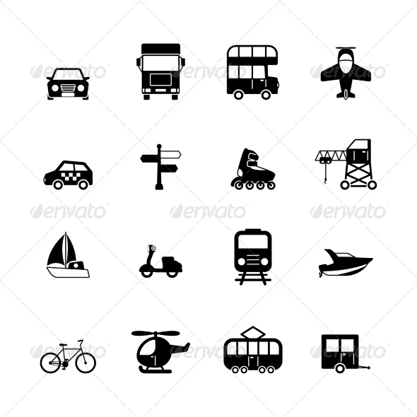 GraphicRiver Transportation Pictograms Collection 6820018