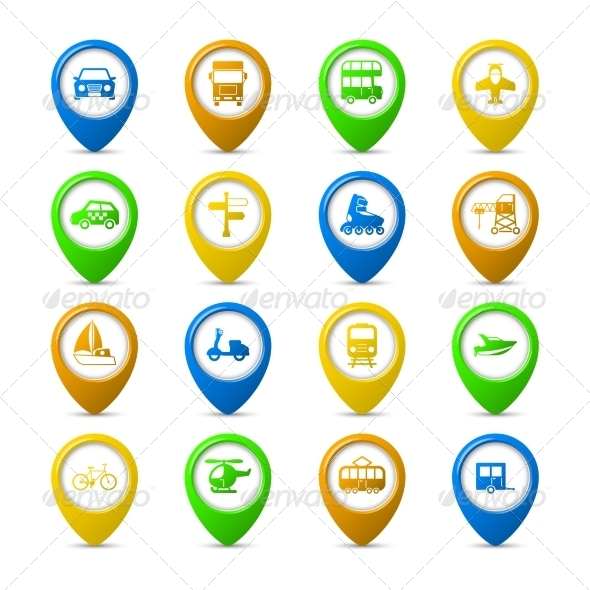 GraphicRiver Navigation Pins Set 6820020