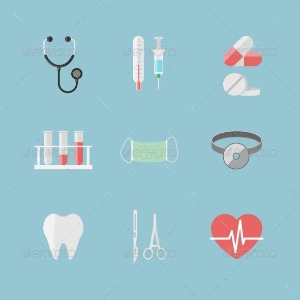 GraphicRiver Health Care Pictograms 6820028
