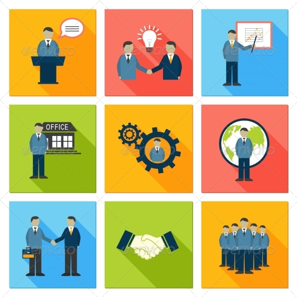 GraphicRiver Collection of Flat Business People 6820036