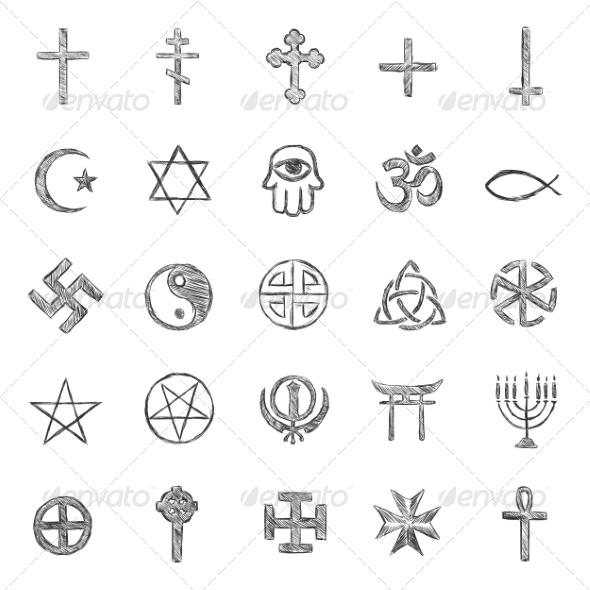 GraphicRiver Religious Symbols 6820040