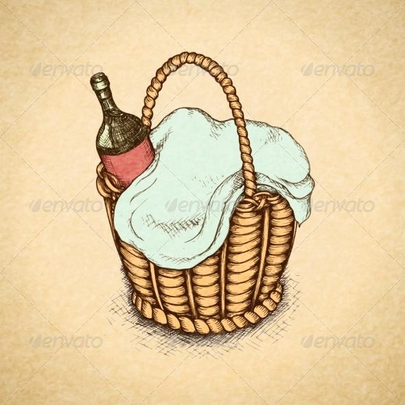 GraphicRiver Vintage Picnic Basket 6820072