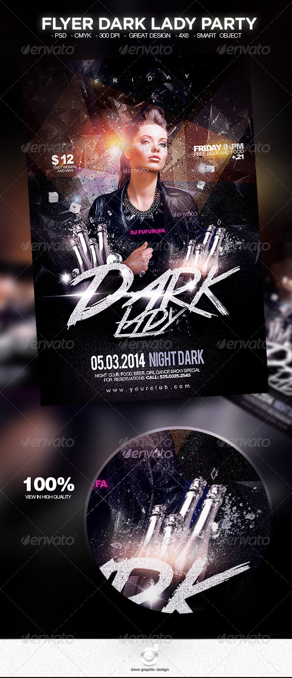 Flyer Dark Lady Party - Clubs & Parties Events