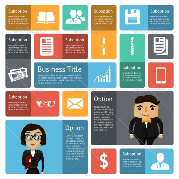 GraphicRiver Flat Business Infographics Design Elements 6820322