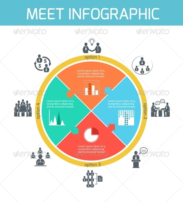 GraphicRiver Business Meeting Infographics 6820331