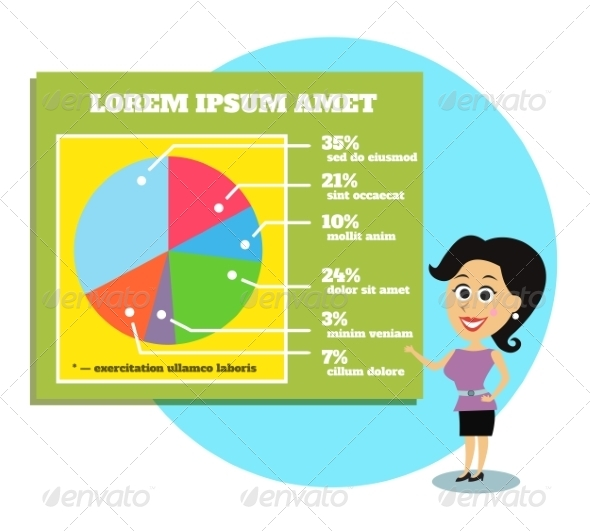 GraphicRiver Businesswoman Presenting Graphs and Charts 6820414