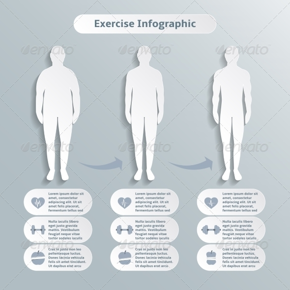 GraphicRiver Infographic Elements for Men Fitness 6820416