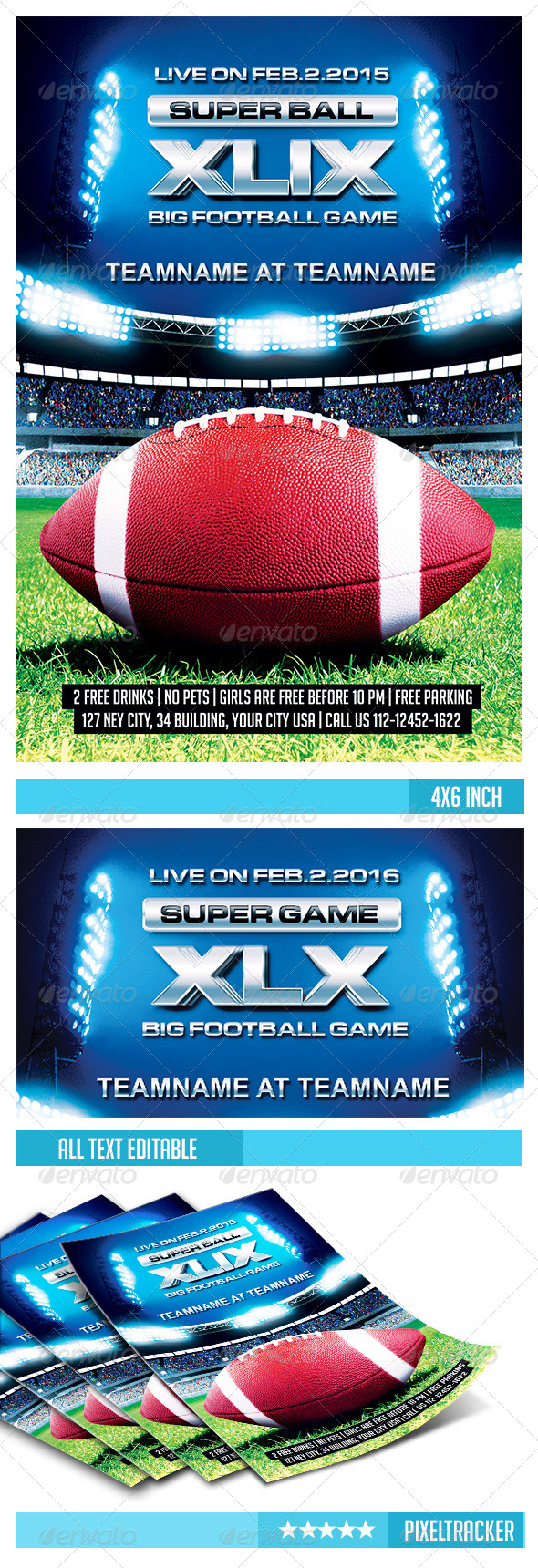 GraphicRiver Football Flyer Template 6820549