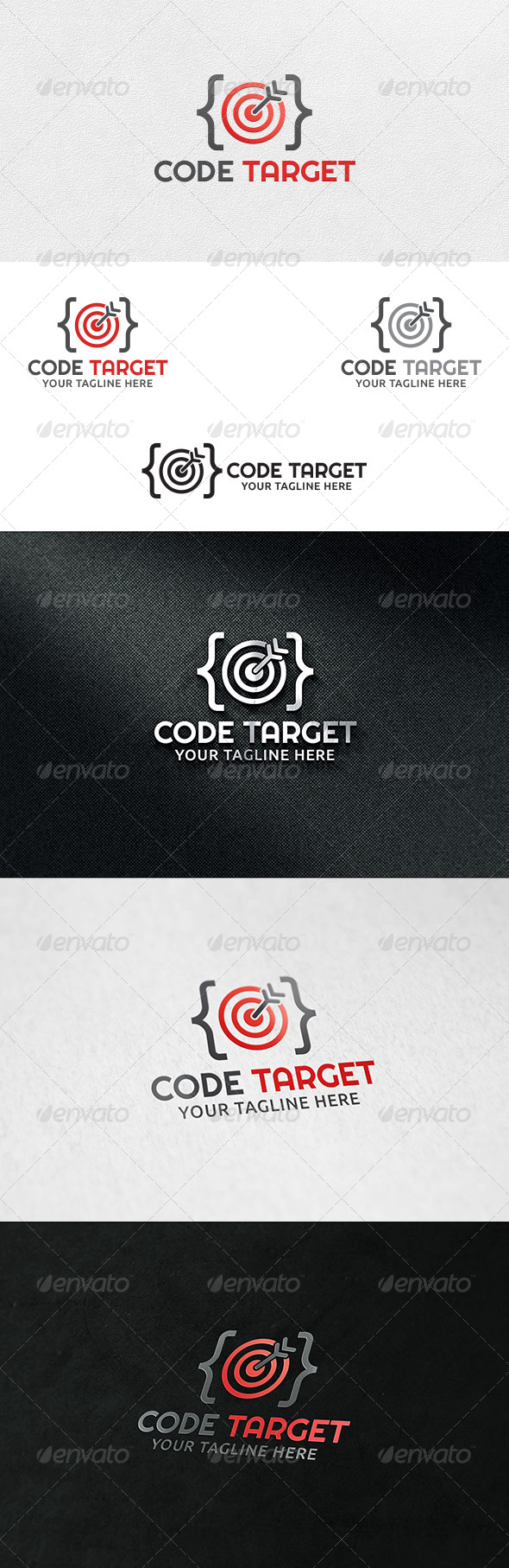GraphicRiver Code Target Logo Template 6820933