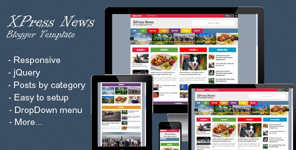 XPress News - Responsive Blogger Magazine - Blogger Blogging