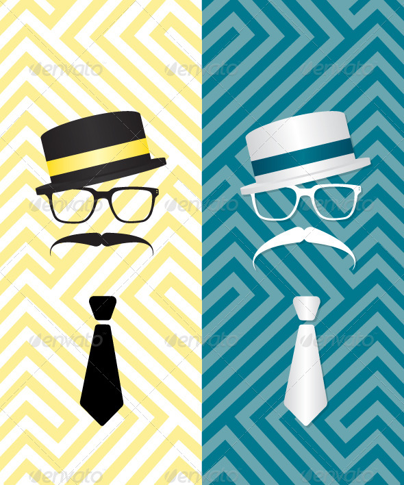 GraphicRiver Hipster Black and White Illustration 6821242