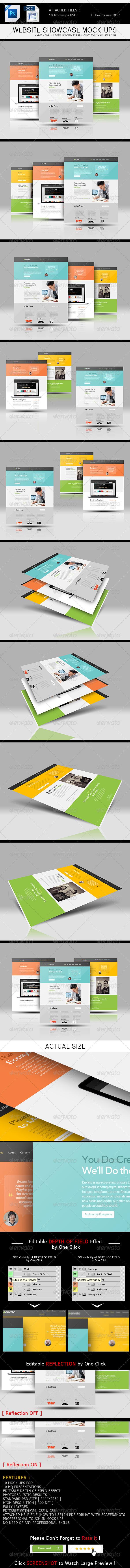GraphicRiver Website Showcase Mockups V 1.0 6821347