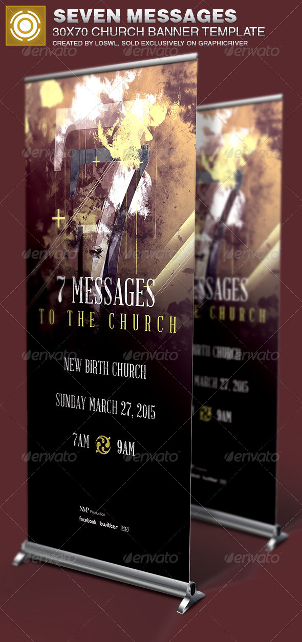 GraphicRiver Seven Messages Church Banner Template 6821680