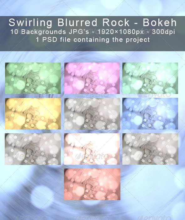 10 Swirling Blurred Rock backgrounds Bokeh