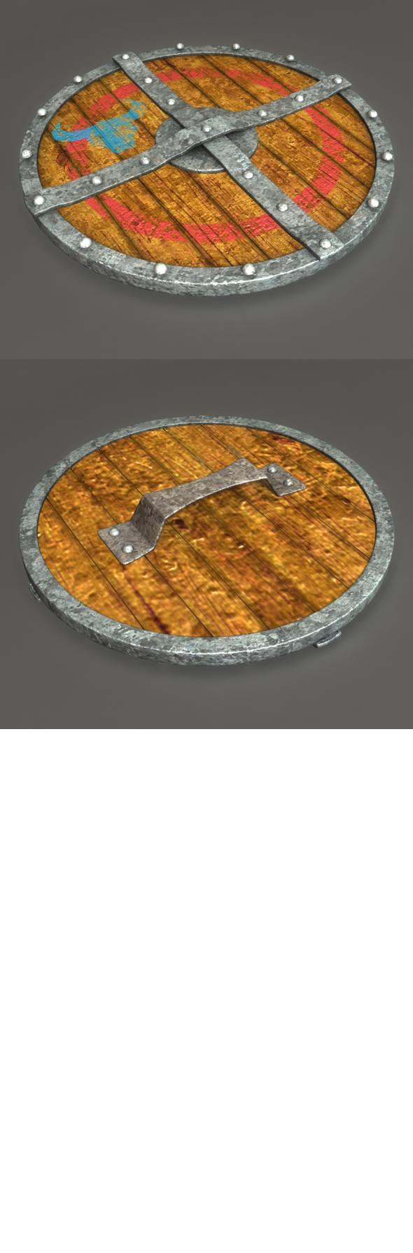 3DOcean 3D Viking Wooden Shield 6822222