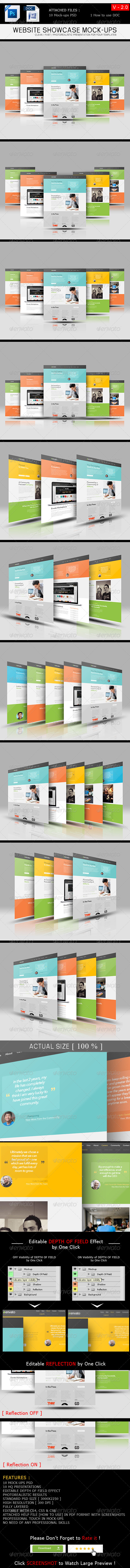 GraphicRiver Website Showcase Mockups V 2.0 6822433