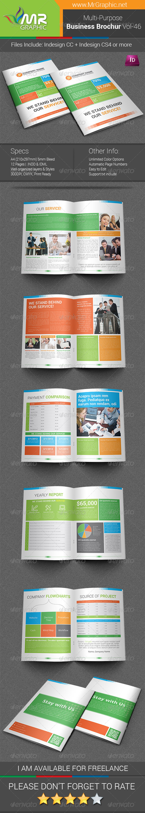 GraphicRiver Multipurpose Business Brochure Template Vol-46 6822510