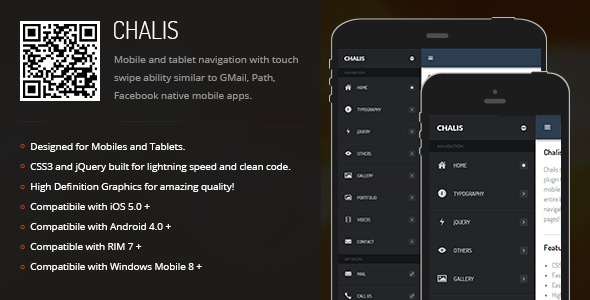 CodeCanyon Chalis Sidebar Menu for Mobiles & Tablets 6822561