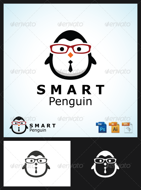GraphicRiver Smart Penguin Logo 6822709
