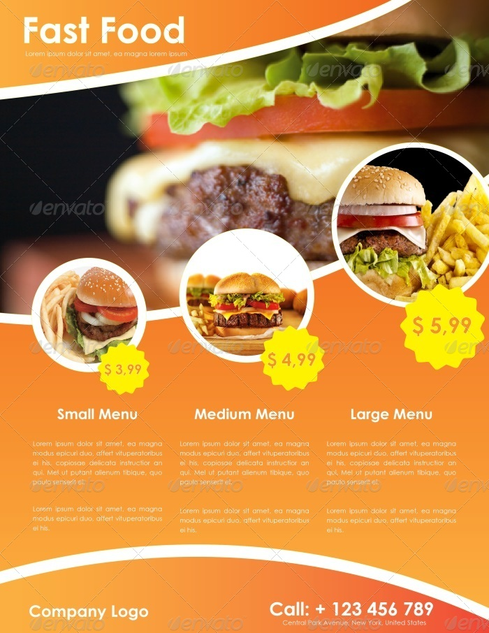 Fast Food Flyer Template by carlosfernando – Food Flyer Template