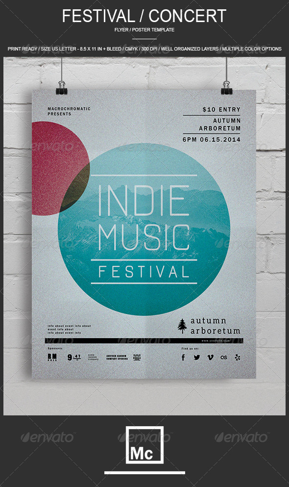 GraphicRiver Festival Concert Flyer 6822941