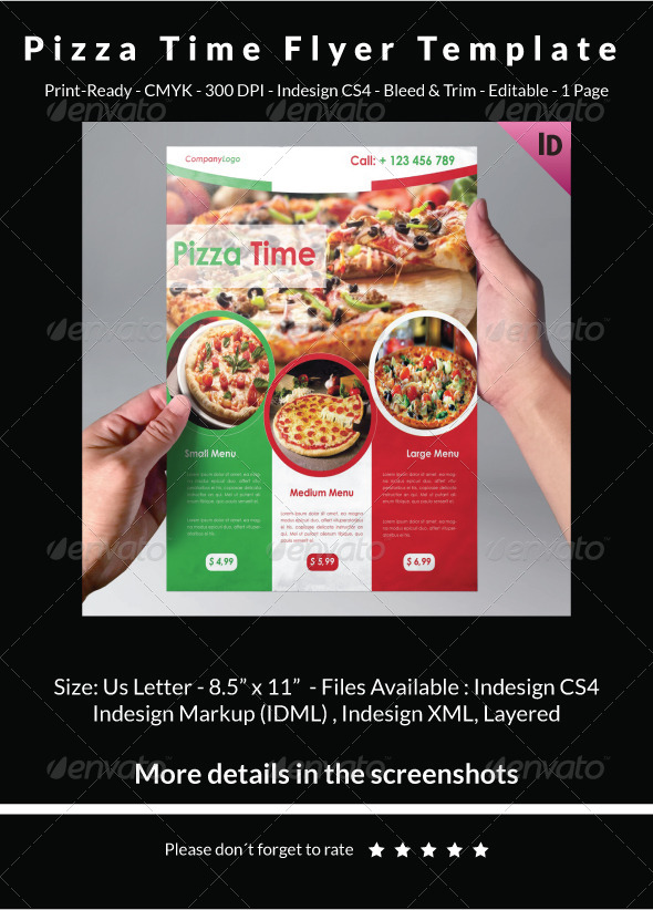 Pizza Time Flyer Template