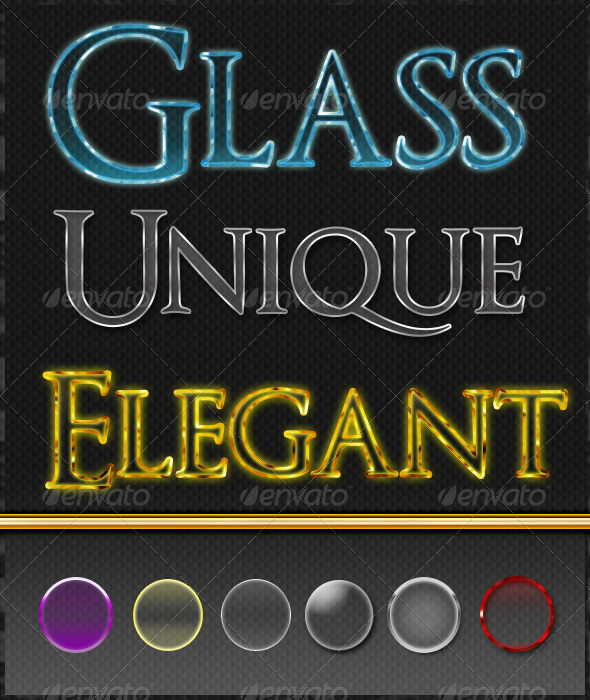 GraphicRiver Refined Glass Text Styles 6823273