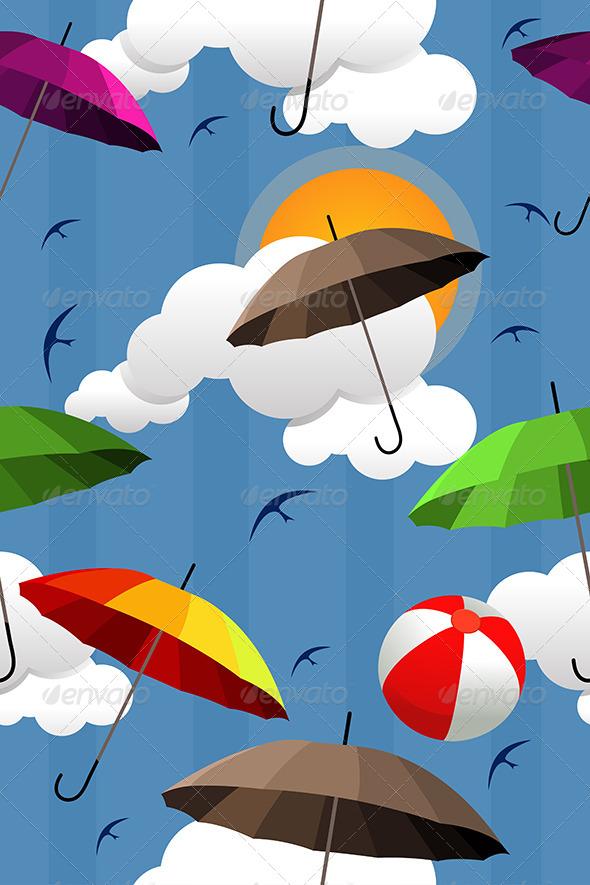 GraphicRiver Wallpaper of Colorful Umbrellas 6823275