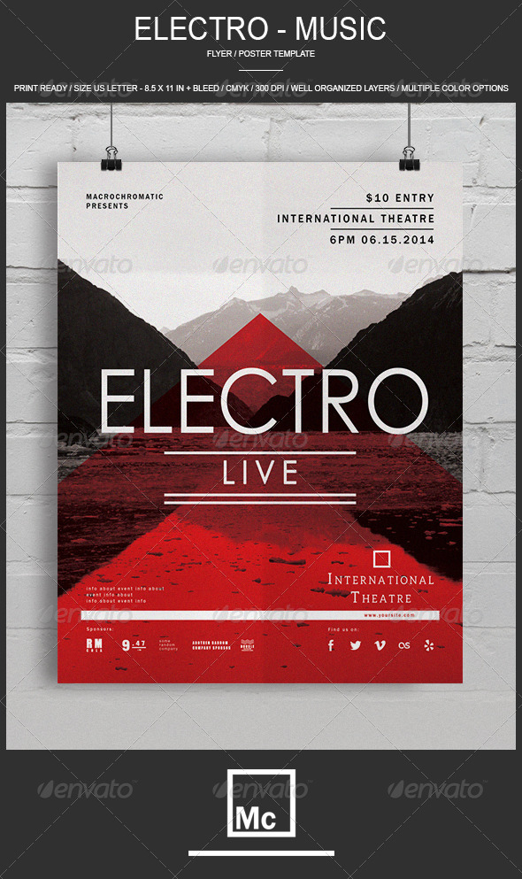 GraphicRiver Electro Concert Flyer Poster 6823286