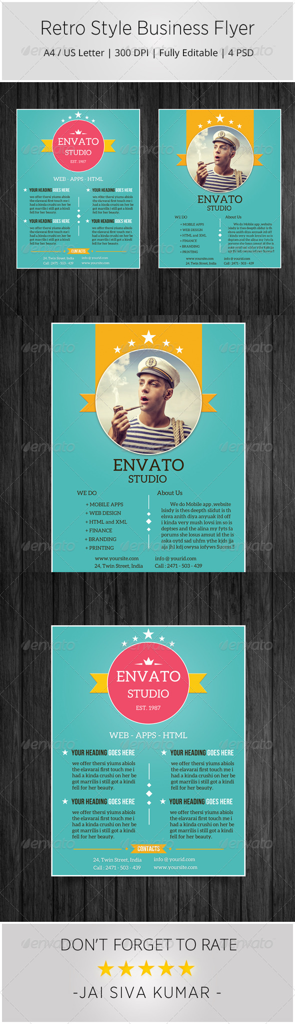 GraphicRiver Retro Style Business Flyer 6823401