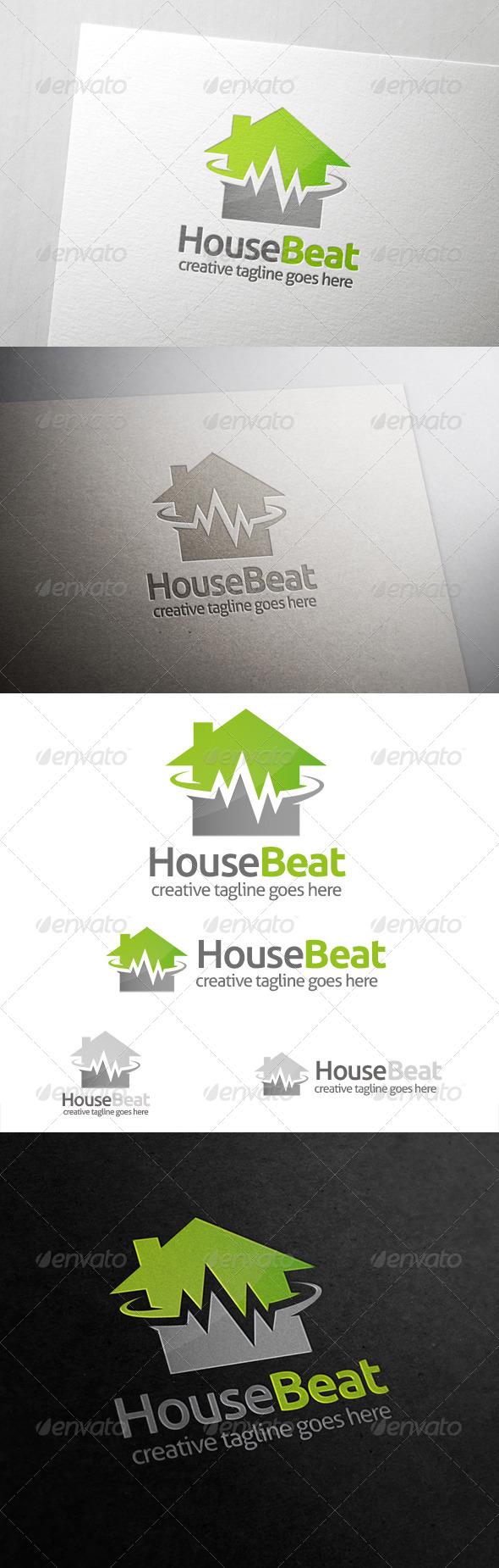 GraphicRiver House Beat Logo 6823571