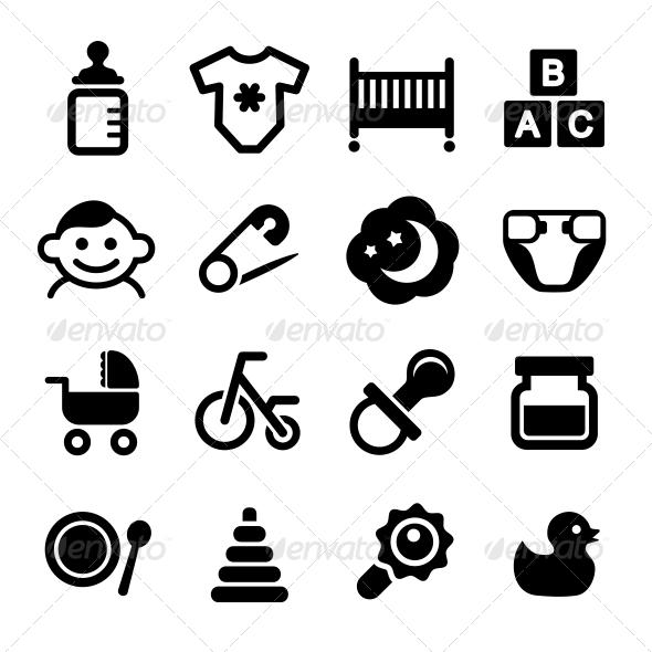 GraphicRiver Baby Icon Set 6823832
