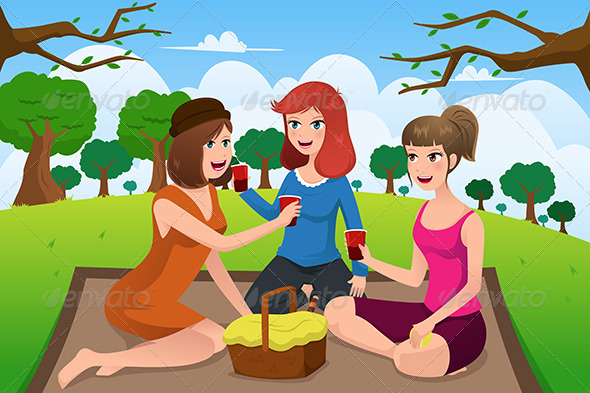 Women having a Picnic