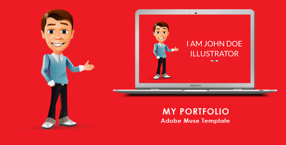 ThemeForest My Portfolio Muse Template 6823867