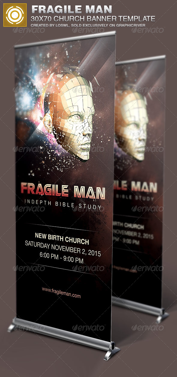 GraphicRiver Fragile Man Church Banner Template 6824171