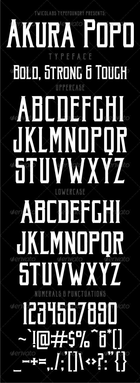 GraphicRiver Akura Popo Typeface 6824189