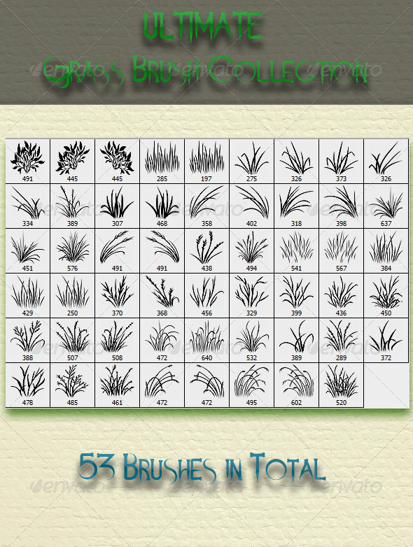 GraphicRiver Ultimate Grass Brush Collection 6824196