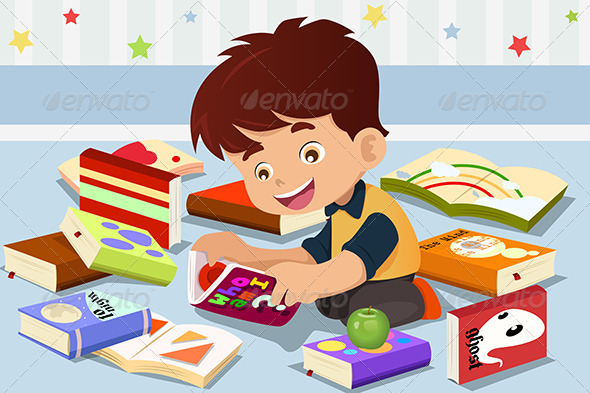 GraphicRiver Boy Reading a Book 6824319