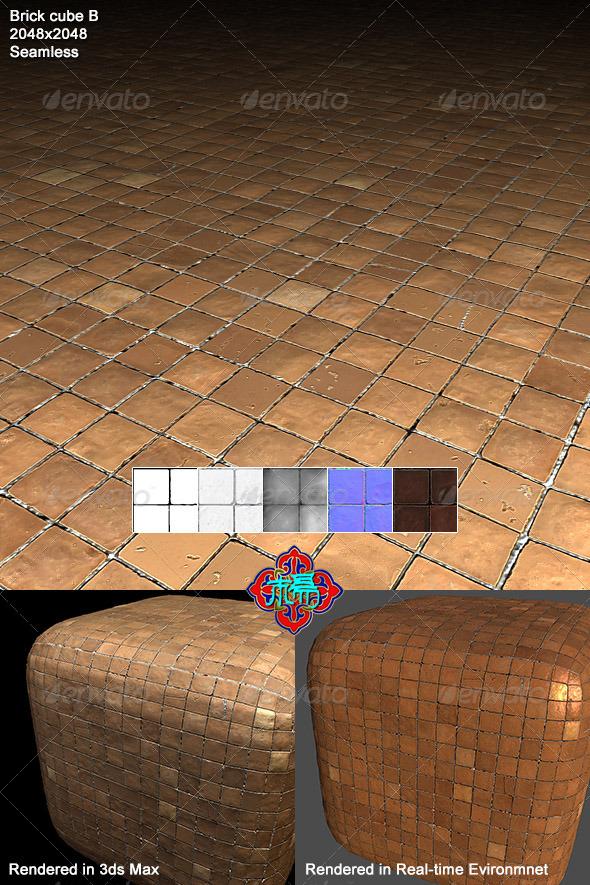 Square brick Texture 02 - 3DOcean Item for Sale