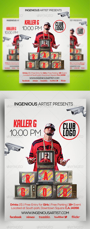 GraphicRiver Rap God Party Flyer 6683699