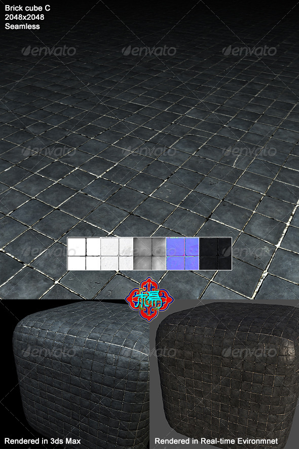 3DOcean Square brick Texture 03 6824575