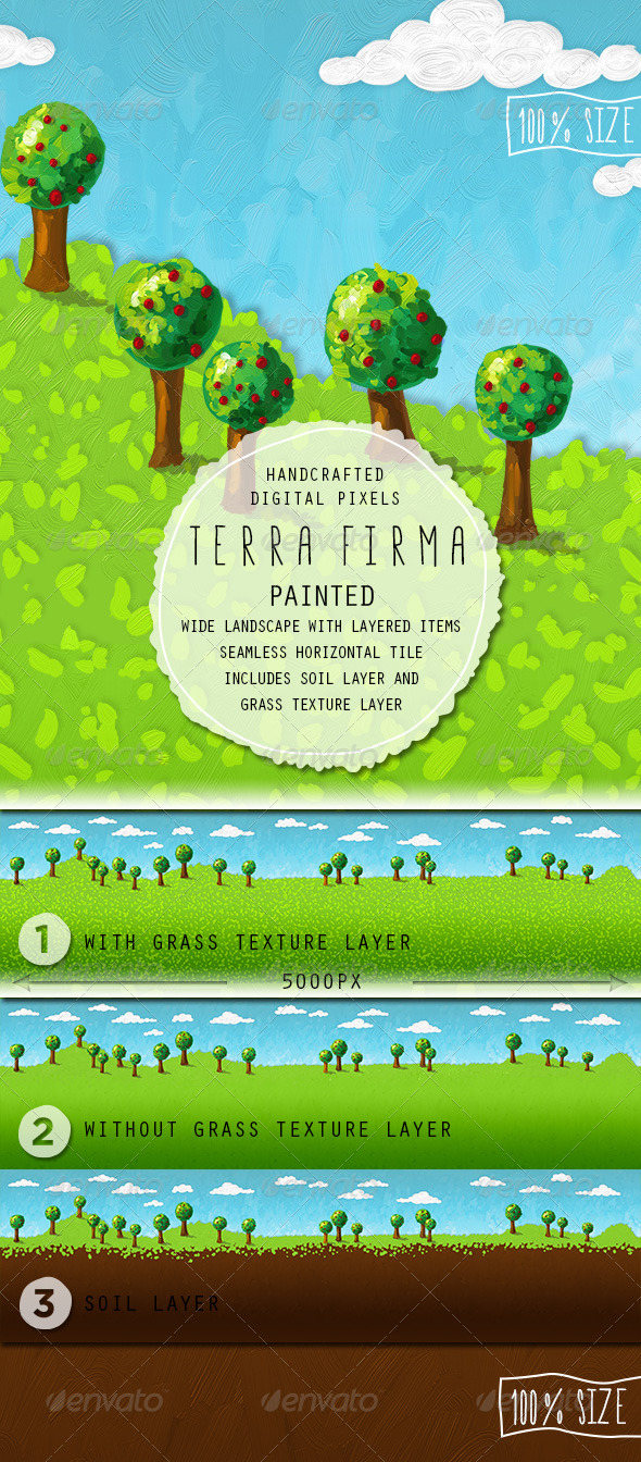 GraphicRiver Terra Firma Painted Background 6824903
