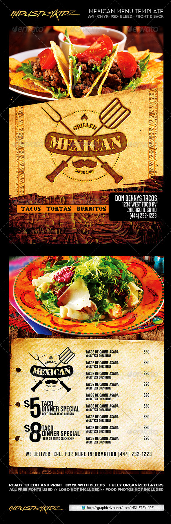 GraphicRiver Mexican Restaurant Menu Template 6824910